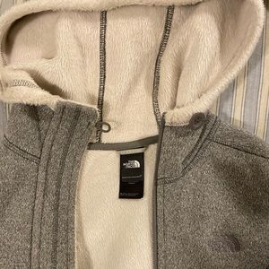 The North Face Tops - XS Northface (Faux) Fur-Lined Sweatshirt